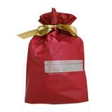 ラッピング用品 ラッピングキット リボン付きバッグ・巾着バッグ 〔サイズ〕W230×H340×D60mm〔厚み〕0.06mm Sサイズ