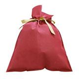 ラッピング用品 ラッピングキット リボン付きバッグ・巾着バッグ 〔サイズ〕W380×H570mm〔厚み〕80g/㎡〔マチ形状 XLサイズ